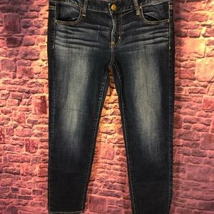 AEO size14 super stretch jegging dark wash skinny